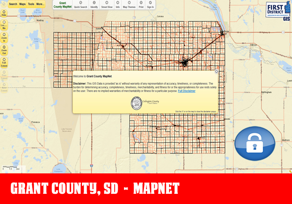 Grant MapNet - The official mapping application for Grant County, SD